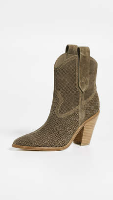 Sigerson Morrison Suede Karka Perforated Booties