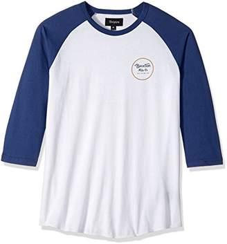 Brixton Men's Wheeler Tailored Fit 3/4 Sleeve Baseball Tee