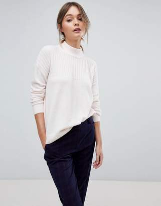 Jack Wills High Neck Knit with Cable Stitch Detail
