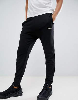 Love Moschino Gold Embroidered Logo Joggers