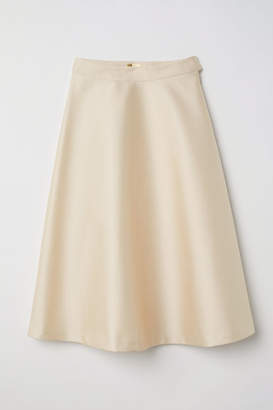 H&M Satin Skirt - Beige