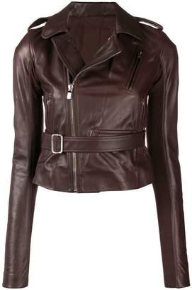 Rick Owens belted biker jacket