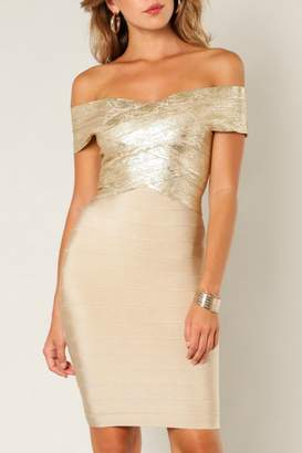Wow Couture Foiled Bandage Dress