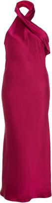 Pandora Galvan M'O Exclusive Silk Midi Dress