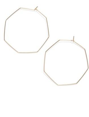 Women's Nashelle Octagon Hoop Earrings $50 thestylecure.com