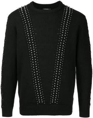 Loveless studded knit sweater