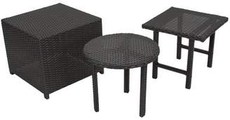Mercury Row Agamemnon 3 Piece Wicker Side Table Set