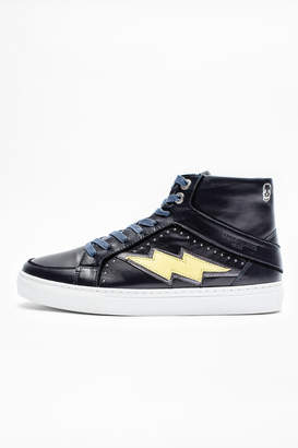 Zadig & Voltaire Zv1747 High Flash Skull Sneakers