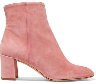 Mansur Gavriel Suede Ankle Boots - Blush