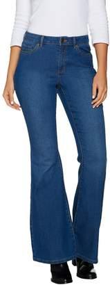 Susan Graver Stretch Denim Flare Leg Jeans