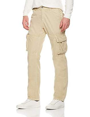 Trimthread Men's Outdoor Sports Standard Fit Multi-Pocket Casual Twill Cargo Work Pants (