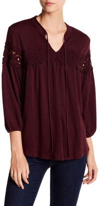 SUSINA Lace Trim Peasant Blouse $26.97 thestylecure.com