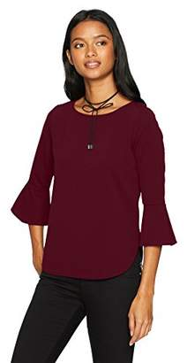 Amy Byer A. Byer Bell Sleeve Boat Neck Top (Junior's)