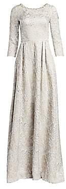 Theia Women's Metallic Beaded Gown
