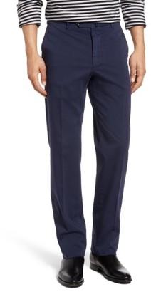 Men's Incotex Flat Front Solid Cotton Blend Trousers $395 thestylecure.com