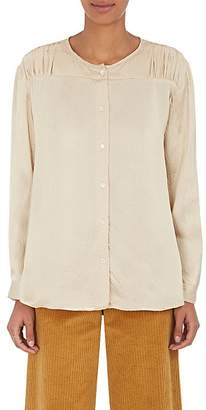 Masscob WOMEN'S HAMMERED SILK CHARMEUSE BLOUSE
