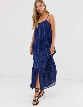 BA&SH Kyo striped maxi dress