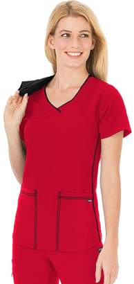 Jockey Plus Size Scrubs Classic Sporty V-Neck Top