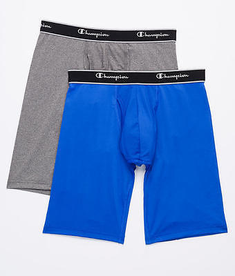 Champion Tech Performance Long Leg Boxer Brief 2-Pack Underwear, Activewear