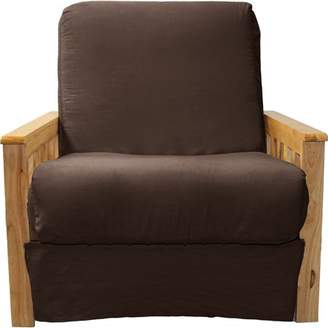 Comfort Style Arts & Crafts Perfect Sit & Sleep Pocketed Coil InnerSpring Pillow Top Chair Sleeper Child Bed, Chair, Natural, Suede Chocolate Brown