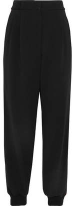 Dolce & Gabbana Striped Stretch-crepe Tapered Pants - Black