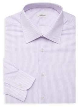 Brioni Striped Regular-Fit Dress Shirt