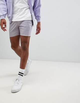 Asos Design DESIGN skinny shorter chino shorts in pastel purple