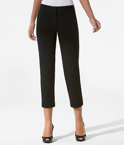 Lindsay Ponte Cropped Narrow Pants