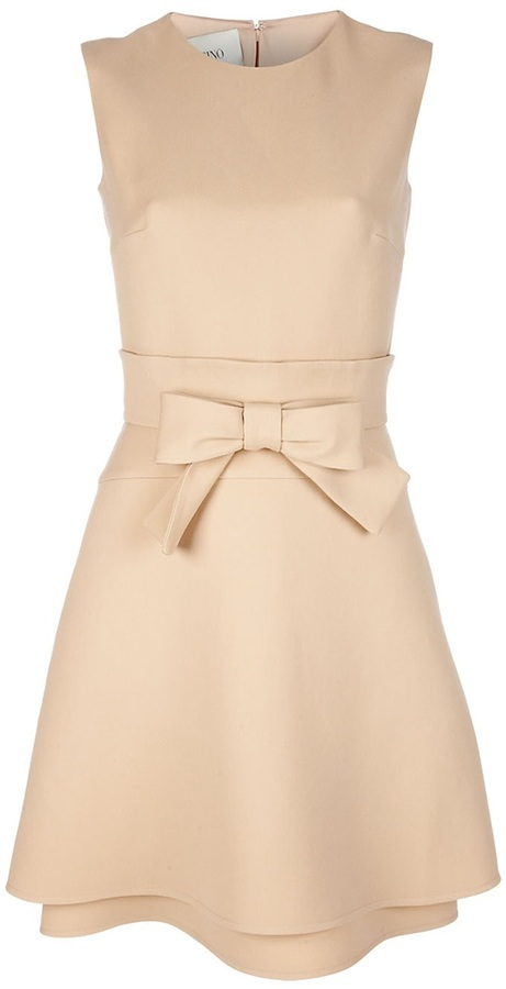 Valentino bow-belted dress