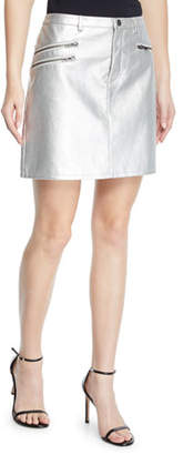 Rebecca Minkoff Myrah Metallic Short Skirt