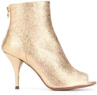 L'Autre Chose foil peep toe boots