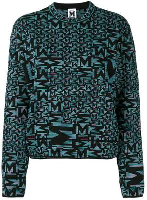 M Missoni black patterned sweater