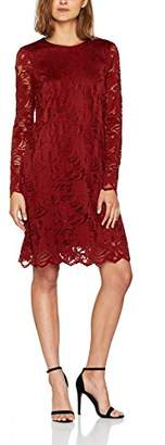 Vila CLOTHES Women's Vistasia L/s Lace A-Shape Fav Dress,(Manufacturer Size: Large)