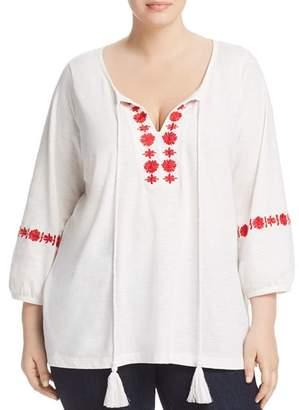 Junarose Plus Sacha Embroidered Peasant Top