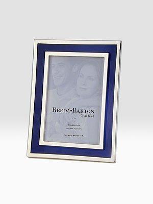 Reed & Barton 4 X 6 Sapphire Enamel Frame