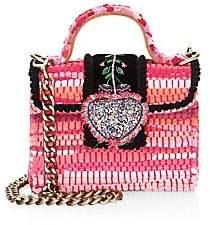 Kooreloo Women's Divine Petite Embroidered & Woven Crossbody Bag