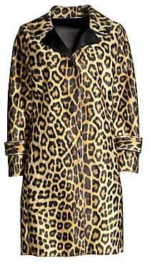 House of Fluff House of Fluff Women's Leopard Faux Fur Car Coat