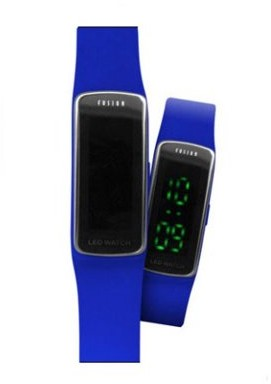 Dakota Comfort Silicon Watch with Tech Time- Lights Up at the Touch of a Botton
