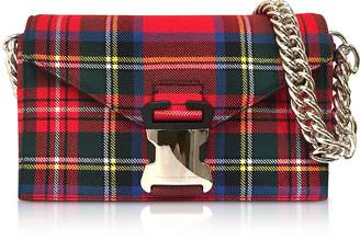 Christopher Kane Mars Red Tartan Small Devine Bag