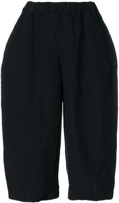 Comme des Garcons wide leg cropped trousers