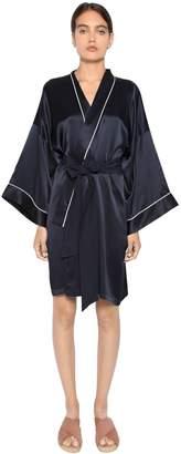 Mimi Silk Satin Kimono Robe