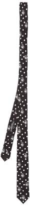 Dolce & Gabbana Heart-print silk-twill skinny tie