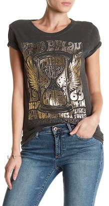 Lucky Brand Bob Dylan Metallic Graphic Tee