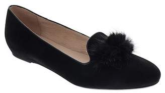Patricia Green Wallis Genuine Mink Fur Pompom Loafer