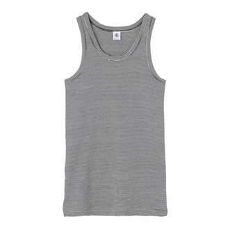 Navy/Off White Stripe Cotton Vest