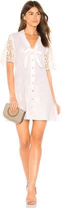 Somedays Lovin Free Skies Embroidered Mini Dress