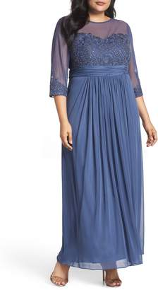 Alex Evenings Embellished Illusion Sweetheart A-Line Gown