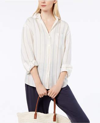 Max Mara Striped Linen Shirt
