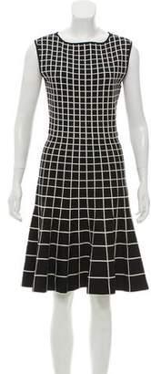 Ohne Titel Pleated Patterned Knee-Length Dress