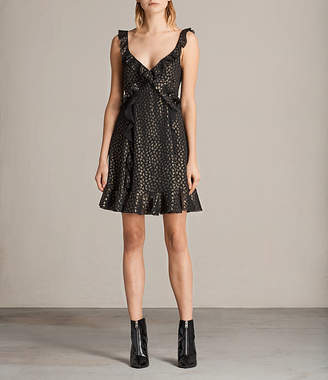 AllSaints Darell Ruffle Dress